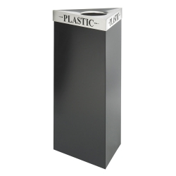 """38""""H Trash Receptacle with Multiple Lid Options, 91409"""