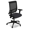 Mesh Back Task Chair with Fabric Seat and Black Base, 56403
