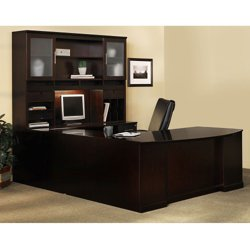 Sorrento Right Return Bowfront U Desk with Hutch