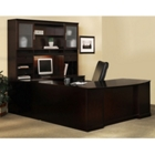 Sorrento Right Return Bowfront U Desk with Hutch, CD06634