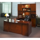 Sorrento Right Return Bowfront U Desk with Hutch, CD06558