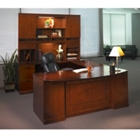 Sorrento Left Return Bowfront U Desk with Hutch, CD06559