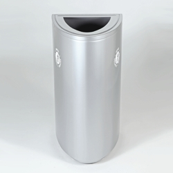 Single Opening Elliptical Shaped Waste Receptacle - 34 Gallons, 91916