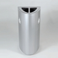Double Opening Elliptical Shaped Waste Receptacle - 34 Gallon, 91917