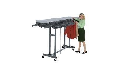 Folding Coat Rack and Shelf for Hangers Holds 96 Coats, 75174