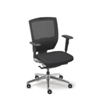 Arris Mid-Back Mesh Chair with Fabric Seat, CD03735