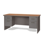 "Double Pedestal Desk - 72"" x 30"", 11955"