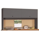 "Desk Mounted Hutch with Flipper Doors - 72""W, 11963"
