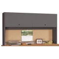 "Desk Mounted Hutch with Flipper Door - 48""W, 11961"