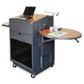 Mobile Presentation Cart with Acrylic Door and Lectern, 43216