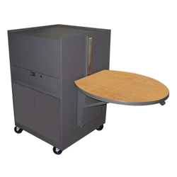 Mobile Media Cart with Side Shelves, 43218
