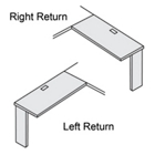Workstation Return 48x24 for Rectangle Set, 21704