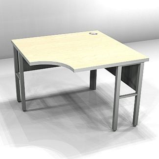 "Curved-Front Corner Workstation - 36""W x 24""D , 21837"