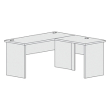"L-Shaped Workstation with Reversible Return - 60""W, 21847"