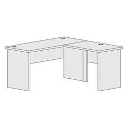 """L-Shaped Workstation with Reversible Return - 60""""W, 21399"""