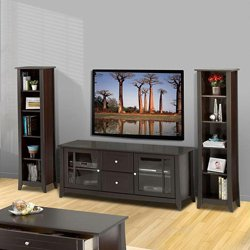 TV Stand with Matching Bookcases