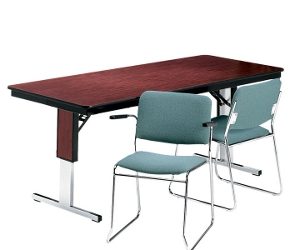 "Rectangular Adjustable Height Folding Conference Table - 96"" x 36"", 40548"