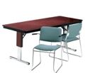 "Rectangular Adjustable Height Folding Conference Table - 96"" x 30"", 40547"