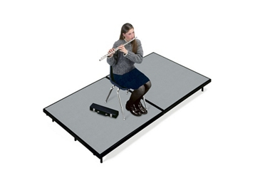 "Mobile Stage 4x8x16"" High With Gray Poly Surface, 10294"