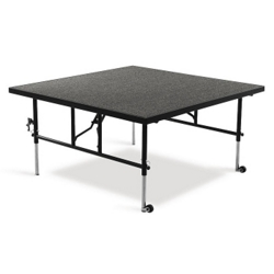 """Adjustable Height Carpeted Deck -48""""Wx48""""Dx24-32""""H, 80378"""