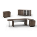 Executive Right L-Desk with Wall Storage, 14465