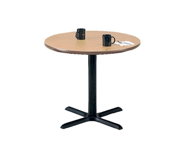 "Round Breakroom Table with Black Base - 42"" Diameter, 44071"