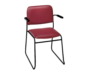 Standard Upholstery Sled Base Stack Chair with Arms, 52183