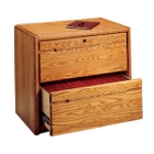 Medium Oak Two Drawer Lateral File, 10523