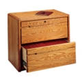 "Medium Oak Two Drawer Lateral File - 33.75""W, 10523"