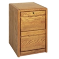 Medium Oak Two Drawer Vertical File, 10524