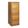 Medium Oak Four Drawer Vertical File, 10525