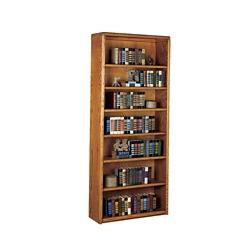 """Medium Oak Seven Shelf Bookcase - 84""""H, 10528"""