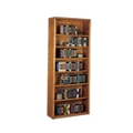 "Medium Oak 84""H Open Bookcase, 10528"