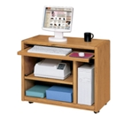 Medium Oak Mobile Computer Cart, 10909