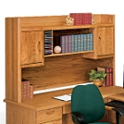 Medium Oak Two Door Hutch, 10981