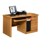 Medium Oak Computer Desk, 10983