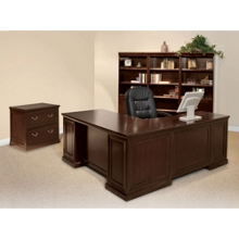 Espresso L-Desk with Left Return Office Set, 86200