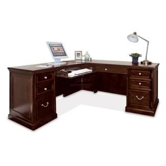 Espresso L-Desk with Left Return, 13345