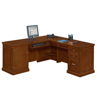 Statesman Compact L-Desk with Left Return, 13346
