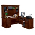 Huntington Cherry L-Desk with Right Return and Hutch, 13392