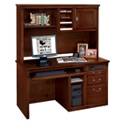 Huntington Cherry Single Pedestal Computer Desk with Hutch, 13394
