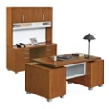 Santa Clara Executive Desk Credenza and Hutch, 13560