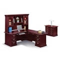 "Cumberland L-Desk with Right Return and Hutch - 72""W, 13883"