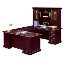 "Cumberland U-Desk with Right Bridge and Hutch - 72""W, 13885"