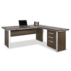 "Metropolitan 72"" Reversible L Desk with Pedestal, 13940"