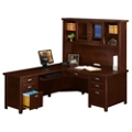 "Left Return L-Desk with Hutch - 68.25""W, 14752"