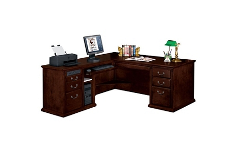 Huntington Cherry Traditional L-Desk with Left Return, 15043