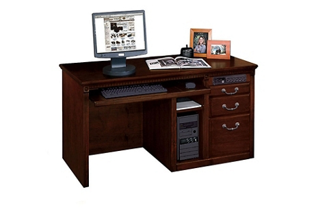 "Single Pedestal Computer Desk - 55.5""W, 15046"