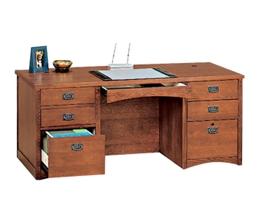 Mission Oak Executive Desk, 10936