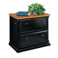Black and Oak Two Drawer Lateral File, 15234